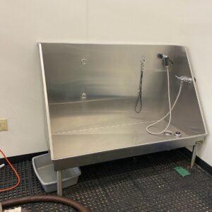 Stainless steel large dog wash tub $90.