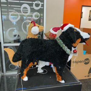 Light up dog Christmas decorations $5 - $25