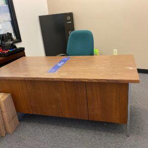 Solid wood desk and shelf $20.